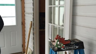 Installing new door for indoor porch on home