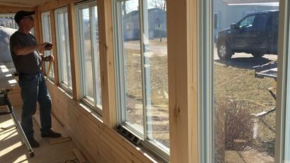 Carpentry and trim work around large windows