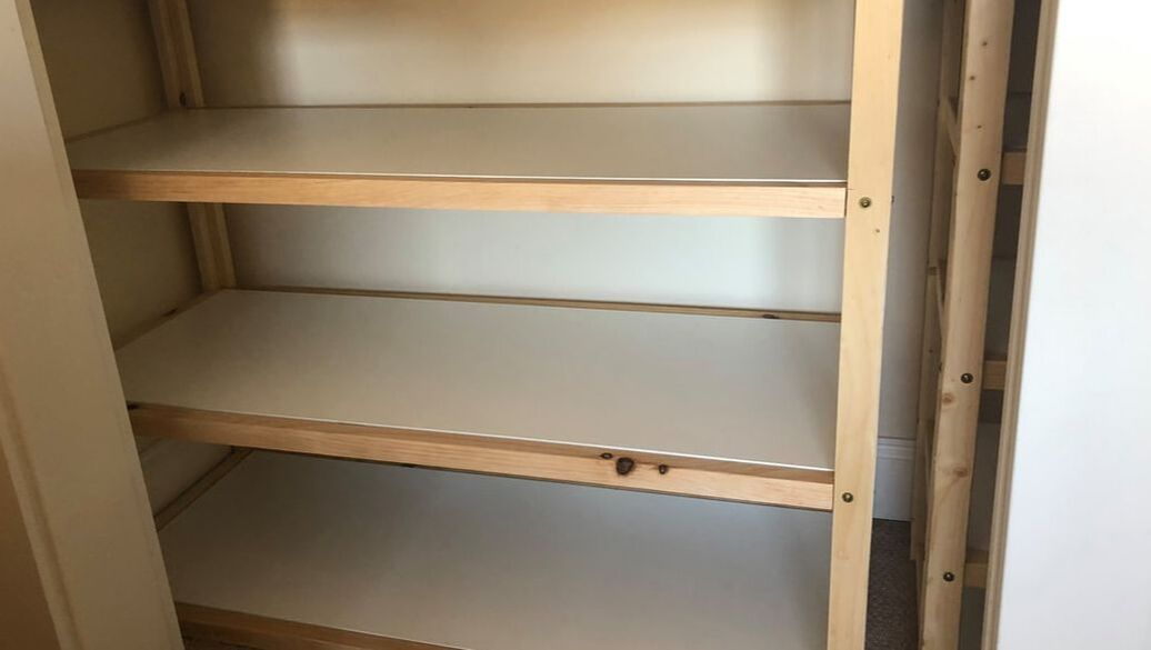 Custom shelving for closets